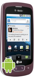 T-Mobile LG Optimus T Burgundy