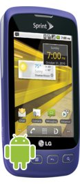 Sprint LG Optimus S Purple