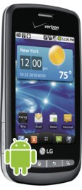 Verizon LG Vortex Black